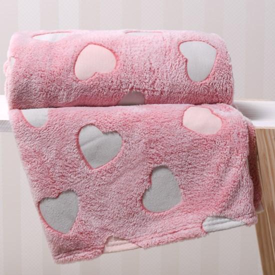 Manta Solteiro Microfibra Flannel Extra Macia Rosa Blush - Bene Casa