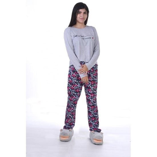 Pijama Feminino P Manga Longa Malha Sleep - Due