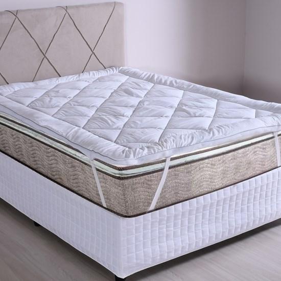 Pillow Top King Toque De Plumas 600G/M² Extra Macio Branco - Tessi