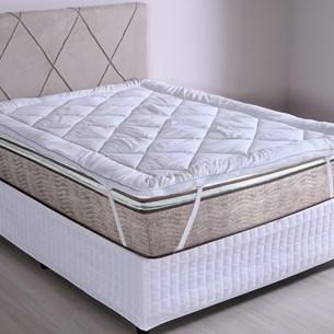 Pillow Top Queen Toque De Plumas 600G/M² Extra Macio Branco - Tessi