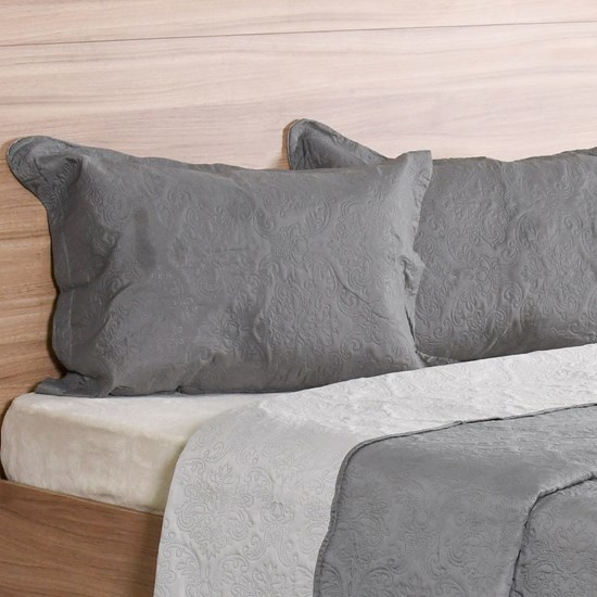 Porta Travesseiro Avulso 50Cm X 70Cm Com Abas Concret - Bene Casa