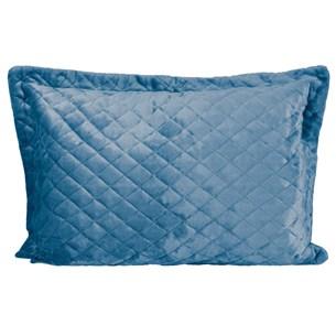 Porta Travesseiro De Plush 50Cm  X 70Cm Toque Extra Macio Azul - Bene Casa