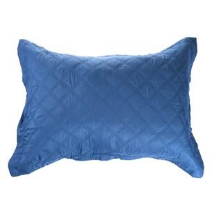 Porta Travesseiro Malassê 50Cm X 70Cm Avulso Com Abas Azul Infinity - Bene Casa