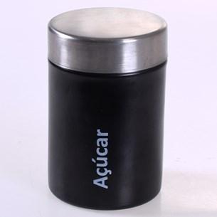 Pote Aço Inox Açucar Decorativo 650Ml Sortido - Bene Casa