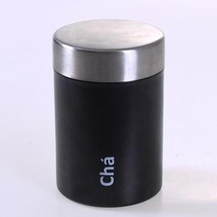 Pote Aço Inox De Mantimentos Decorativo Chá 650Ml Sortido - Bene Casa