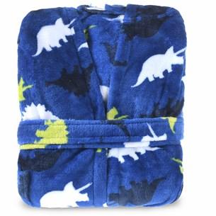 Roupão Infantil Com Capuz P Toque Flannel Azul - Bene Casa