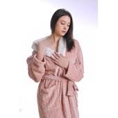 Produto Roupão Lã De Carneiro Sherpa M Microfibra Flannel 180G/M² Terracota - Tessi