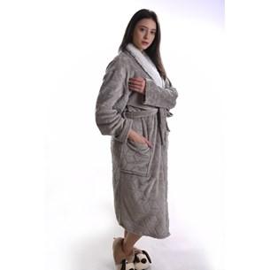 Roupão Lã De Carneiro Sherpa P Microfibra Flannel 180G/M² Caqui - Tessi