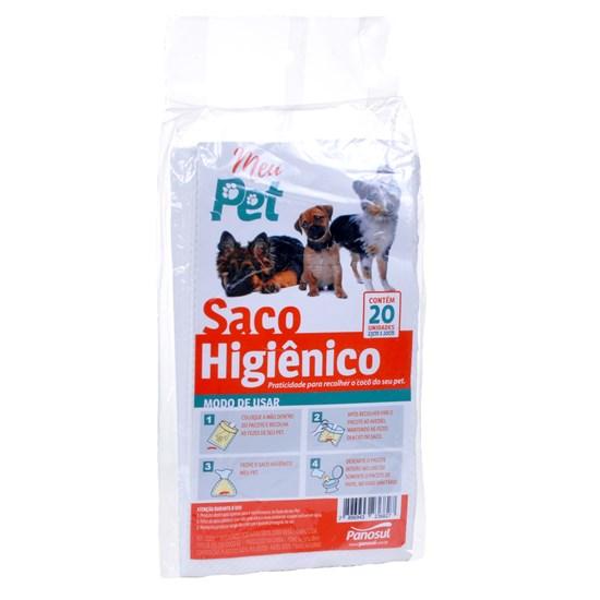Saco Higiênico 23Cm X 20 Cm Pacote Com 20 Unidades - Sortido - Meu Pet