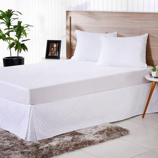 Saia Box Solteiro Ultra Lisse Impermeável Branco - Bene Casa