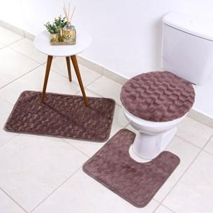 Soft Jogo De Banheiro 3 Peças - Cassia - Bene Casa