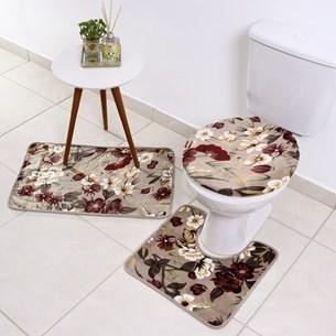 Soft Jogo De Banheiro 3 Peças - Fiore - Bene Casa