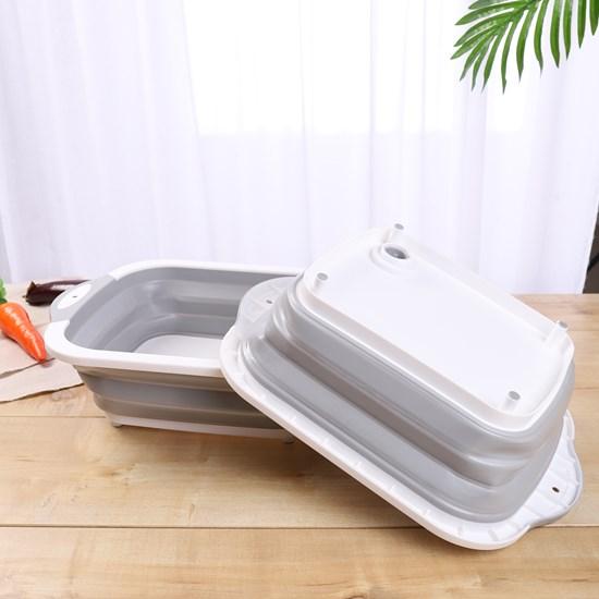 Tábua De Corte 2 Em 1 Retrátil Com Sistema De Escoamento De Água Sortida - Bene Casa
