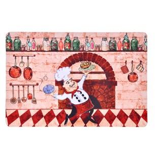 Tapete 40Cm X 60Cm  De Cozinha Emborrachado Digital Print Cozinha D Chef - Bene Casa