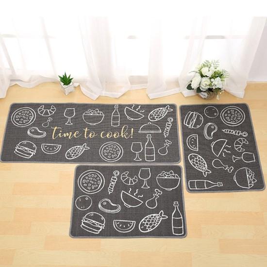 Tapete 40Xm X 60Cm De Cozinha Antiderrapante Colori Time To Cook - Bene Casa