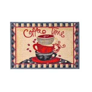 Tapete 45Cm X 65M  Para Cozinha Emborrachado Coffe Time - Panosul