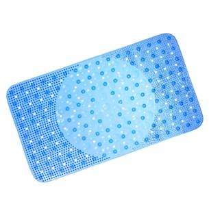 Tapete Box Antiderrapante 34Cm X 64Cm Com Ventosa Azul Escuro - Panosul