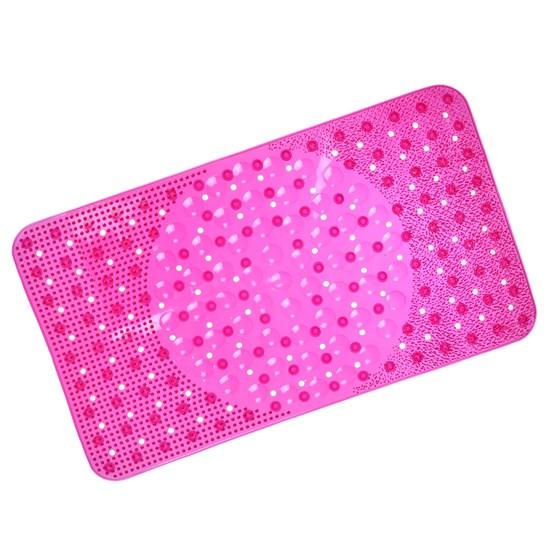 Tapete Box Antiderrapante 34Cm X 64Cm Com Ventosa Rosa Pink - Panosul
