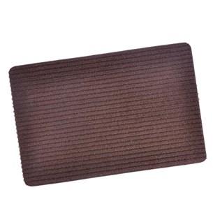 Tapete Capacho 40Cm X 60Cm Antiderrapante Liso Marrom - Panosul