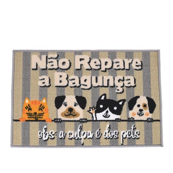 Tapete Capacho De Porta 40Cm X 60Cm Antiderrapante Meus Pets - Panosul