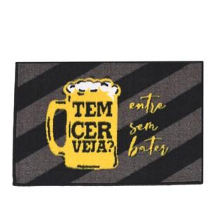 Tapete Capacho De Porta 40Cm X 60Cm Antiderrapante Tem Cerveja - Panosul
