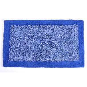 Tapete Chenille 50Cm X 80Cm De Algodão Azul - Panosul
