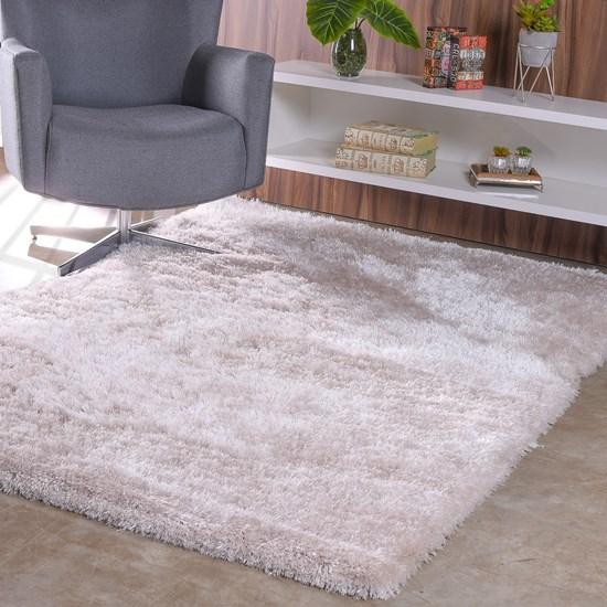Tapete De Sala E Quarto Peludo 1,40M X 2,00M  Premium Silk Luna - Tessi