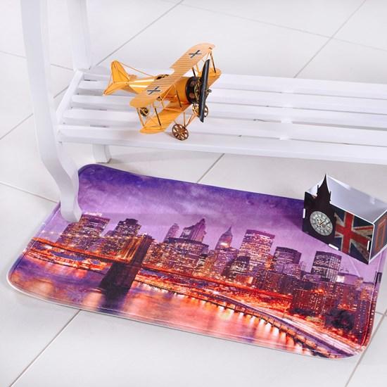 Tapete Digital Confort 50Cm X 80Cm Antiderrapante City - Bene Casa