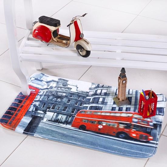 Tapete Digital Confort 50Cm X 80Cm Antiderrapante London - Bene Casa