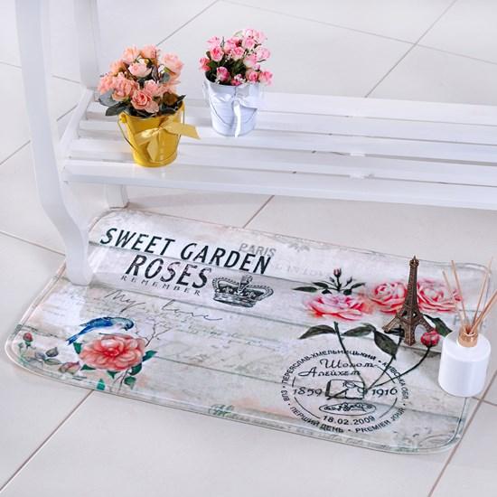 Tapete Digital Confort 50Cm X 80Cm Antiderrapante Roses - Bene Casa