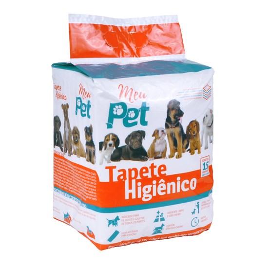 Tapete Higiênico Para Cachorros Pacote C 15 Unidades Rápida Absorção Branco - Meu Pet