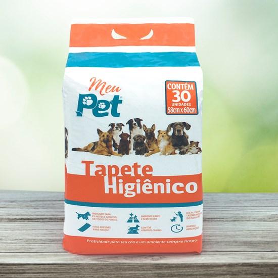 Tapete Higiênico Para Cachorros Pacote C 30 Unidades Rápida Absorção Branco - Meu Pet