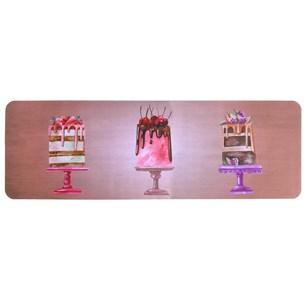 Tapete Passadeira 40Cm X 1,20M  De Cozinha Emborrachado Digital Print Sweet Coke - Bene Casa