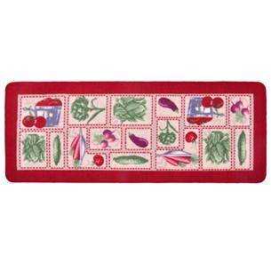 Tapete Passadeira 45Cm X 1,15M  Para Cozinha Emborrachado Legumes - Panosul