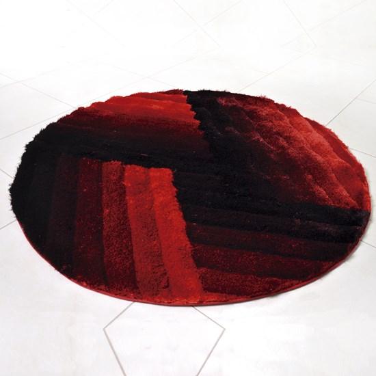 Tapete Shaggy 3D 1,50M Redondo Para Salas E Quartos Bordo Graffi - Tessi