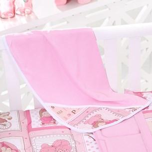 Toalha Capuz Bebê 70Cm X 70Cm Toque Aveludado Amore Rosa - Bene Casa