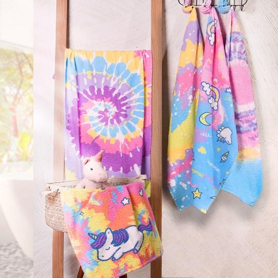 Toalha De Banho Infantil  Tie Dye Estilo Do Momento  Algodão Sortido - Bene Casa