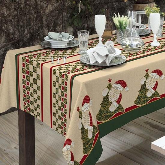 Toalha De Mesa De Natal 4 Lugares Linhão Papai Noel - Bene Casa
