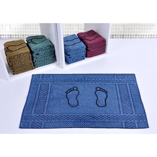 Toalha De Piso 42Cm X 70Cm 100% Algodão 310G/M² Otima Absorção Azul - Panosul