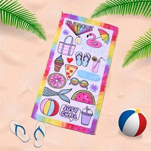 Toalha De Praia 60Cm X 1,10M Infantil Anti Areia Festa - Bene Casa
