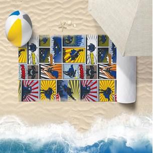Toalha De Praia 60Cm X 1,10M Infantil Anti Areia Heroes - Bene Casa