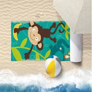 Toalha De Praia 60Cm X 1,10M Infantil Anti Areia Macaquinho - Bene Casa