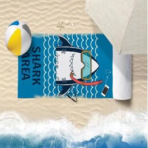 Toalha De Praia 60Cm X 1,10M Infantil Anti Areia Shark - Bene Casa
