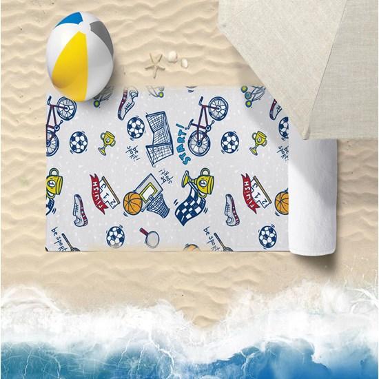 Toalha De Praia 60Cm X 1,10M Infantil Anti Areia Sport - Bene Casa
