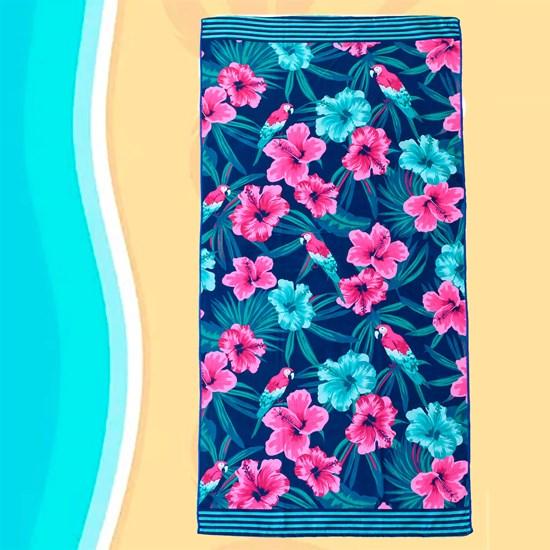 Toalha De Praia 70Cm X 1,40M Estampada Microfibra Anti Areia Aloha - Panosul