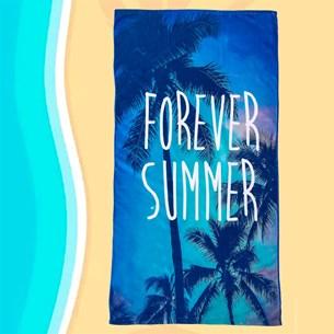 Toalha De Praia 70Cm X 1,40M Estampada Microfibra Anti Areia Summer - Panosul