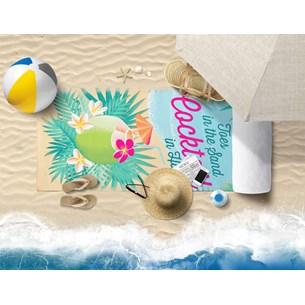 Toalha De Praia 70Cm X 1,40M Estampada Microfibra Anti Areia Tropical - Panosul