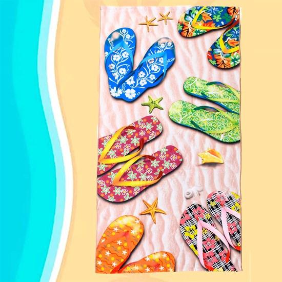 Toalha De Praia Estampada Microfibra Anti Areia Beach - Panosul