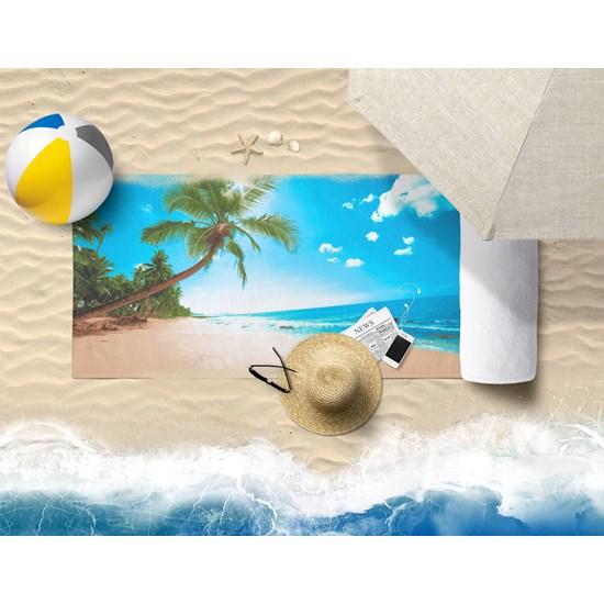 Toalha De Praia Estampada Microfibra Anti Areia Paraiso - Panosul