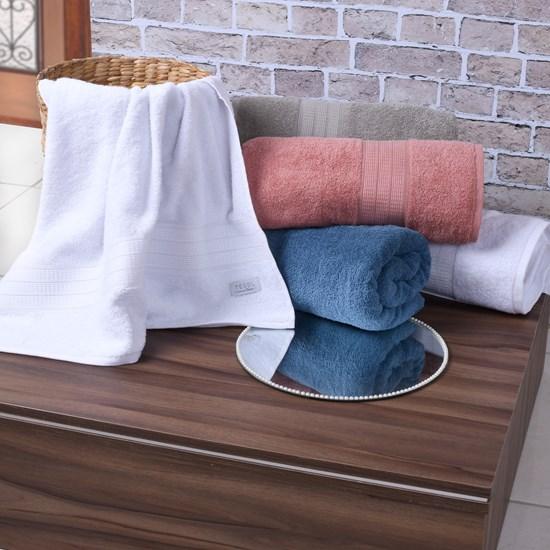 Toalha De Toalha De Banho 100% Algodão Fio Penteado 500G/M²  Branco - Tessi